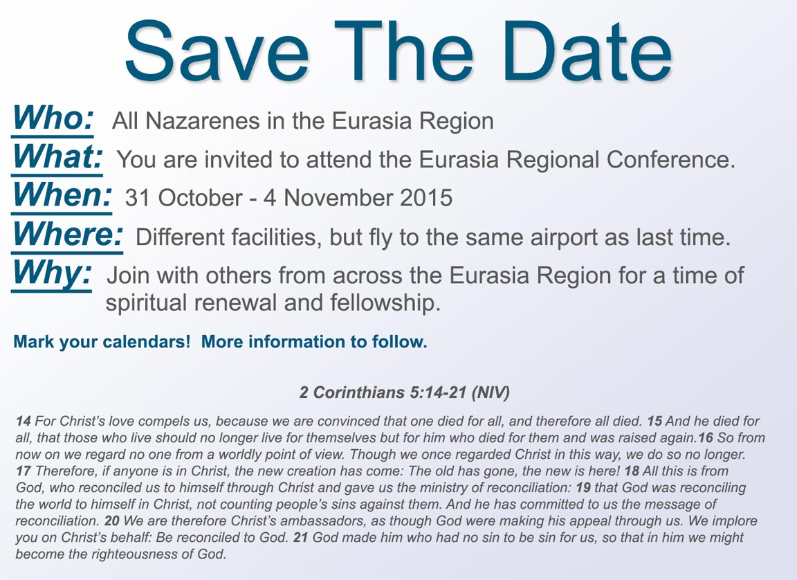Save the Date - Eurasia Regional Conference