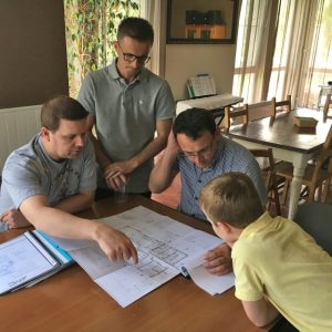 Kosovo team planning at Sofia church
